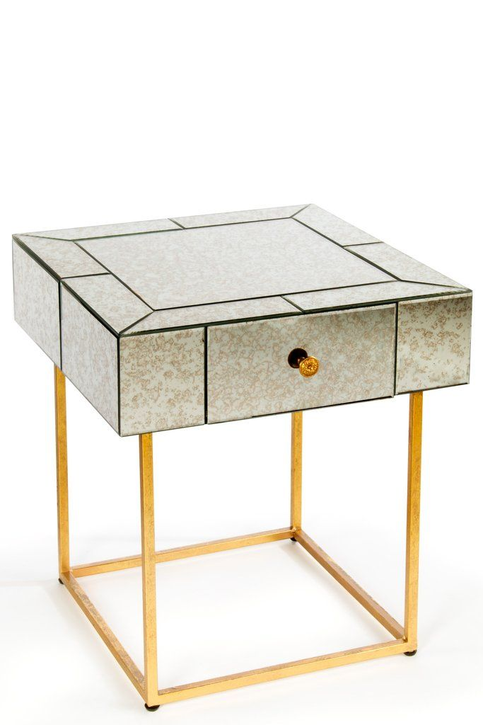 15SH097-Dailyn Mirrored Side Table
