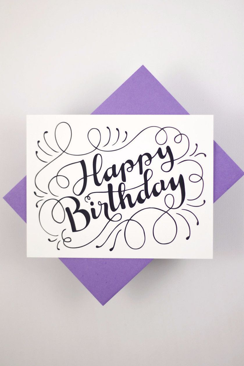 Send A Lovely Birthday Message With This Card That Features My Hand Drawn Original Lettering D E T I L S Z 1 Measuring Approx