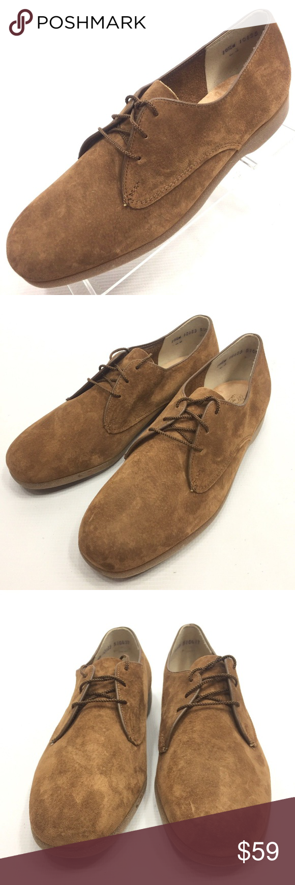 Hush Puppies Suede Derby Oxfords Shoes 10 5w Nos Hush Puppies Oxford Shoes Hush Puppies Shoes