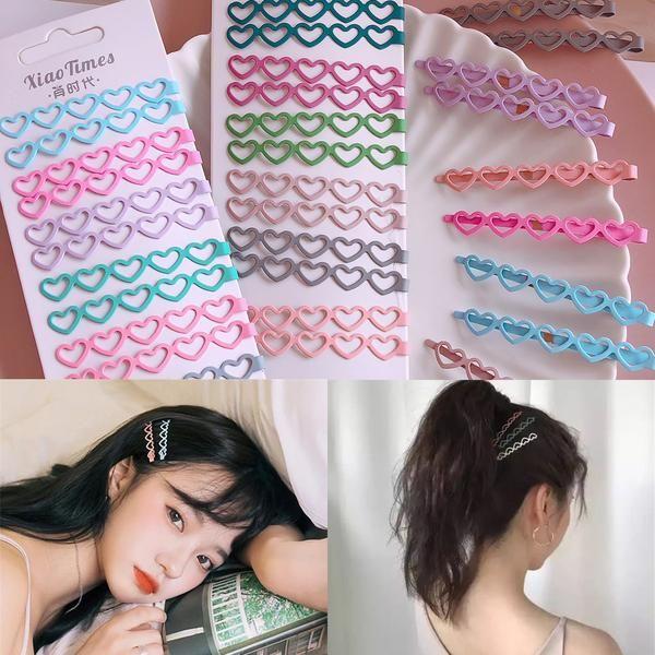 Hollow Love Hair Clipyv41118 Kawaii Hair Clips Hair Accessories Pins Hair Acessories