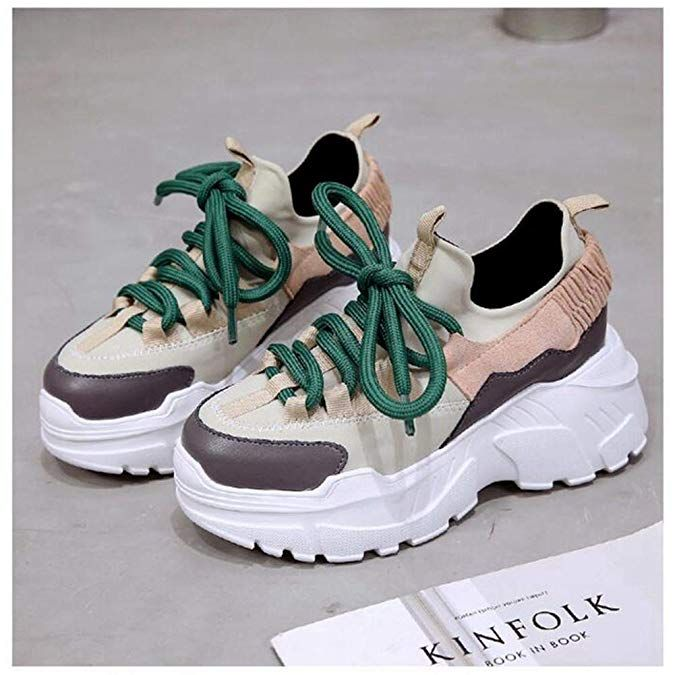 a9a6884205 Amazon.com | U-MAC Womens Platform Wedge Sneakers Breathable Mesh Athletic  Walking Shoes