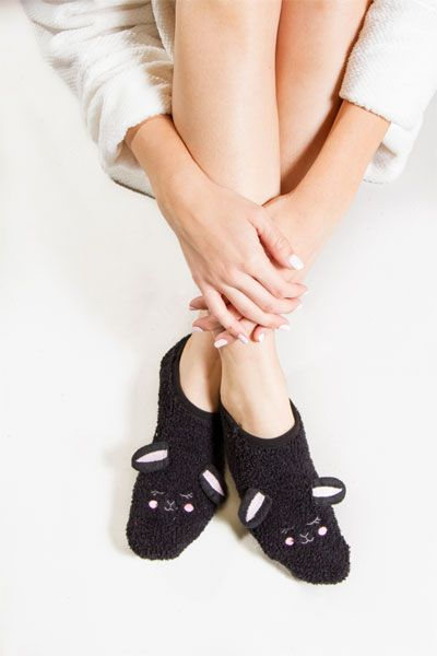 PJ Salvage Bunny Plush Slipper Socks  91b0749e6