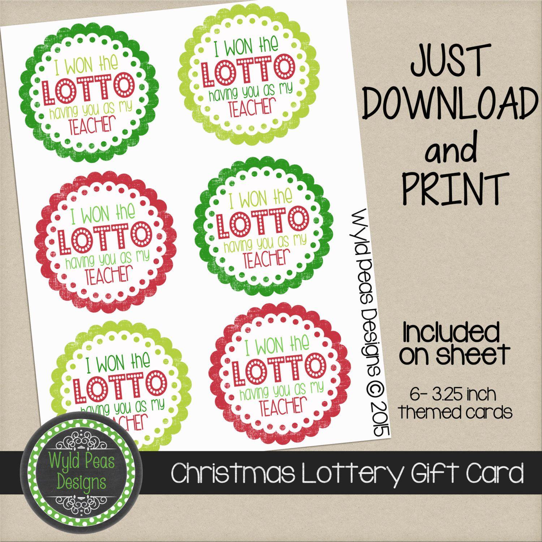 Free Birthday Lottery ~ Christmas printable lottery gift card pdf pinterest lotto