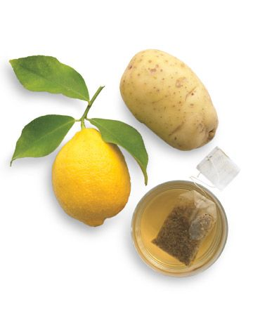 Color booster for blondes:  Squeeze the juice from a lemon. Grate a raw potato and blend with the lemon to form a paste. Add 1/2 cup room-temperature chamomile tea and stir. Shampoo, then spread the mask throughout hair, massaging lightly. Cover your head with a PVC-free shower cap or plastic wrap, then lightly heat with a hair dryer for 2 to 3 minutes. Rinse, then style as usual.