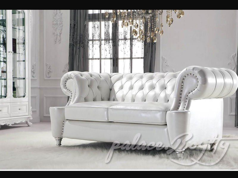 Classic Italian Off White Leather Living Room Sofas Leather