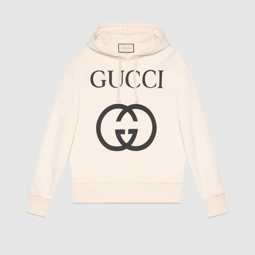 Gucci Hooded Sweatshirt With Interlocking G In 2021 Sweatshirts Hooded Sweatshirts Mens Sweatshirts [ 980 x 980 Pixel ]