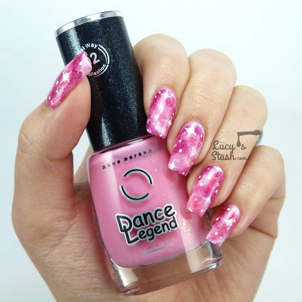 Pink Galaxy Nail Art Tutorial   Its A Woman\'s World   Pinterest ...