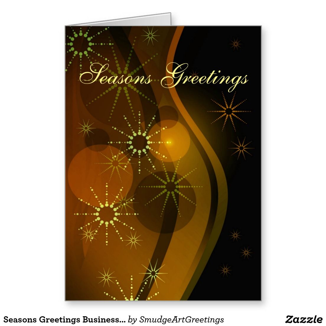 Seasons Greetings Businesscorporate Abstract Card Business And