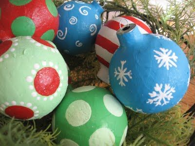 Paper Mache Christmas Ornaments from the Blue Cricket | The Best ...