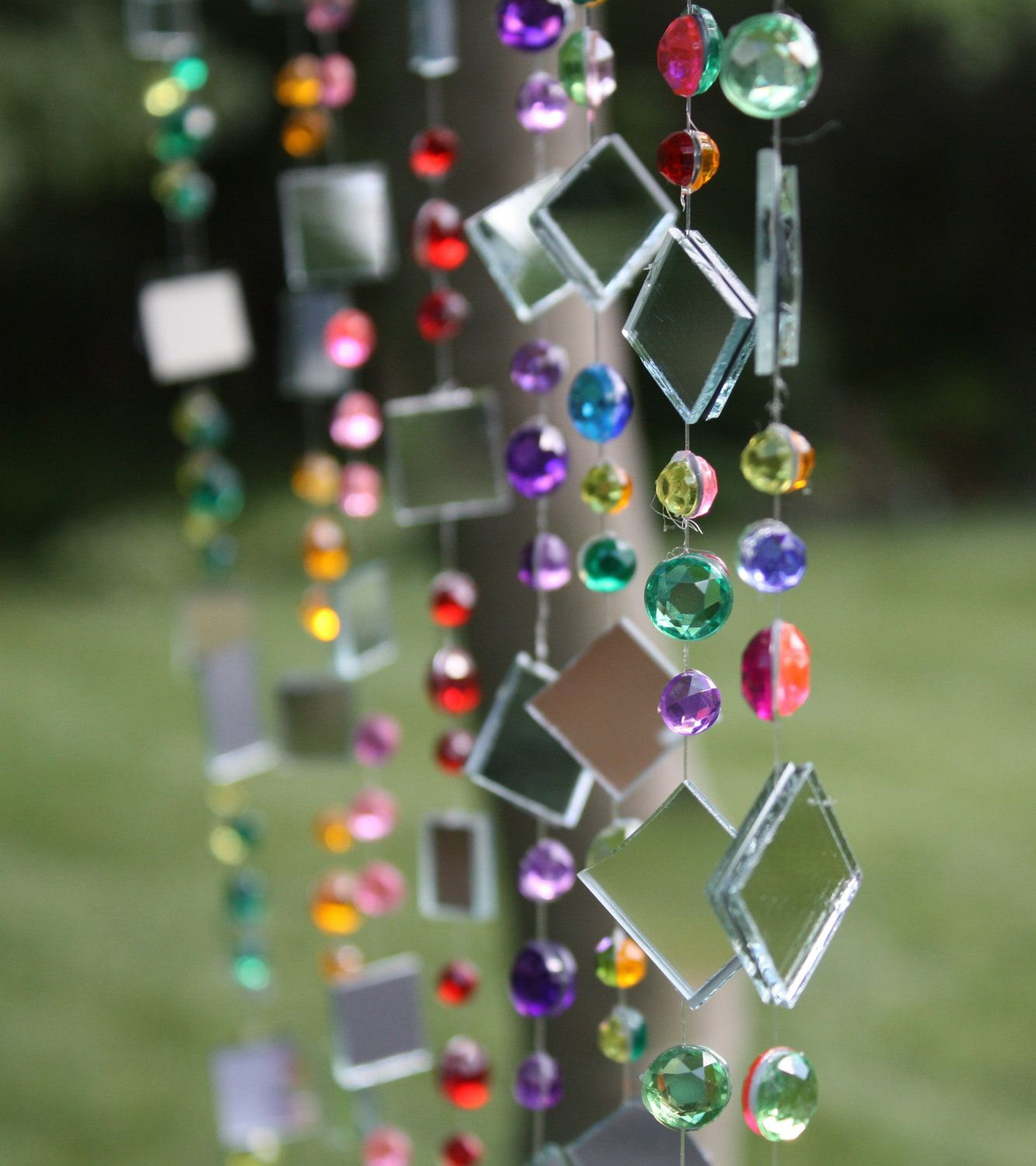 Charming Hanging Garden Art: 9 Strings Of Tree Jewelry, Whimsical And Colorful Tree  Bling. $27.00, Via Etsy.