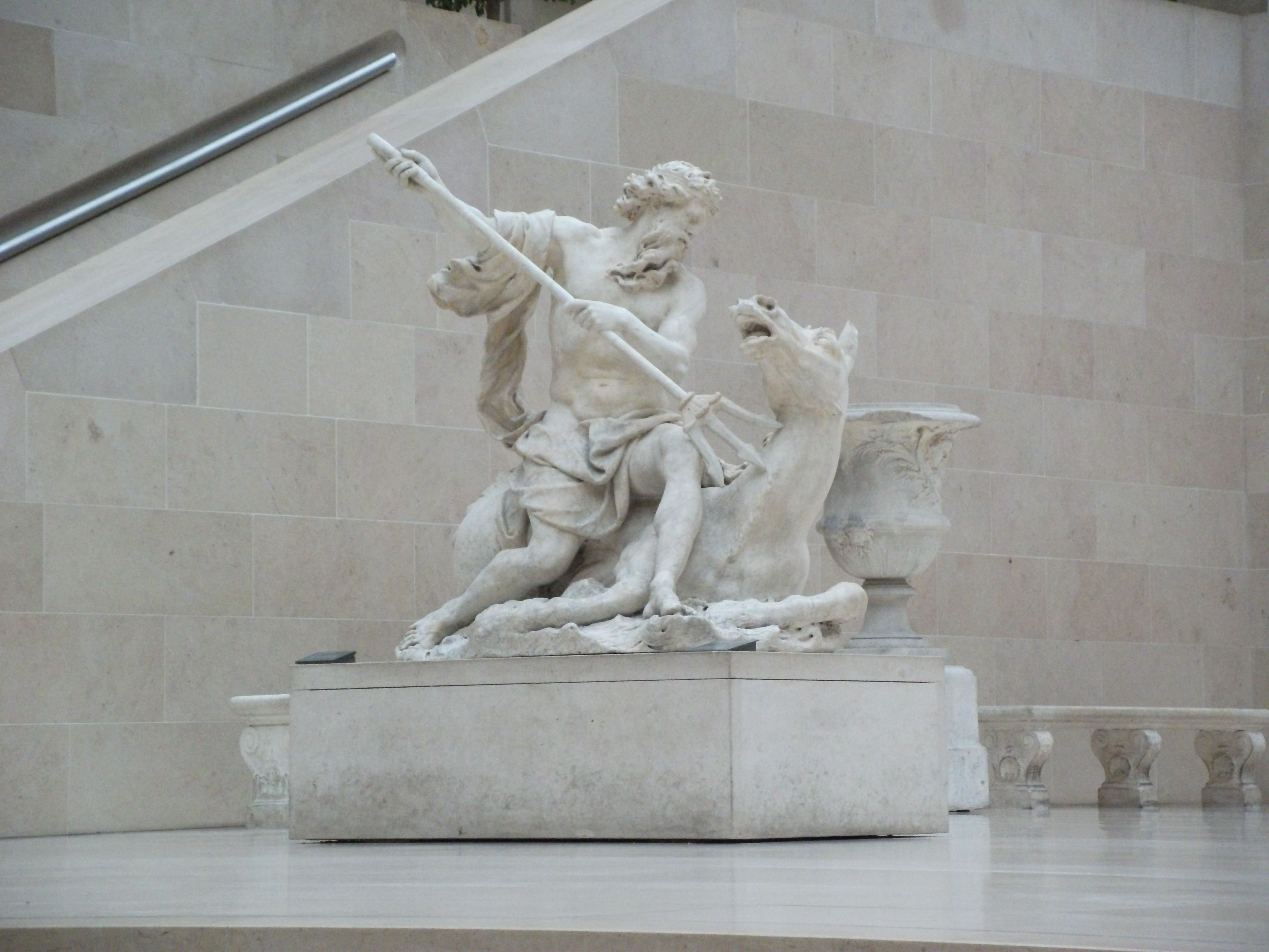 Statue Of Poseidon Creating The Horse In The Louvre Ancient Greek Art Greek Art Statue