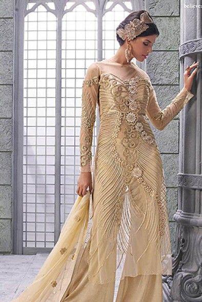 e0ec4928f5 Beige & Gold Palazzo Suit ZO1003 | Zoya Collection... | Designer ...