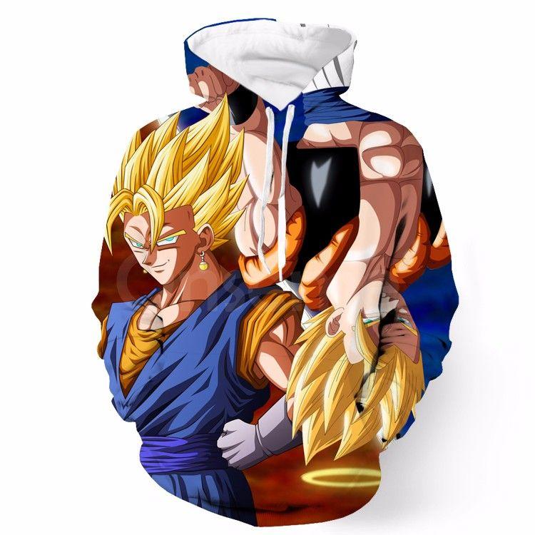 Dbz Goku Vegeta Super Saiyan Potara Fusion Upside Down Design Hoodie Fellow Tees Harajuku Hoodie Printed Hoodies Sweatshirts Unisex Hoodies