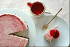 Raspberry Mint Cheesecake