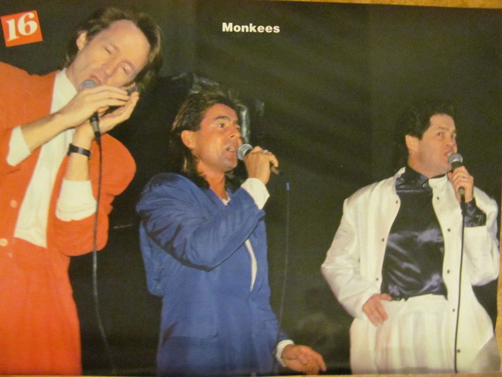 The Monkees, Sean Astin, Double Full Page Vintage Pinup