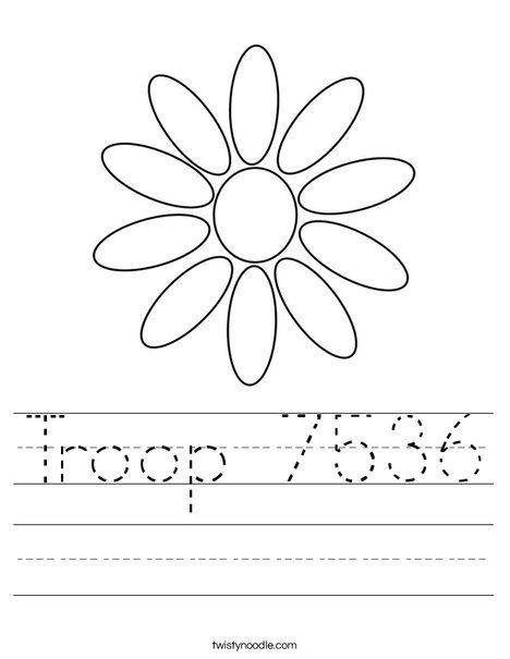 Troop 7536 Worksheet - Twisty Noodle | Girl scout daisy ...