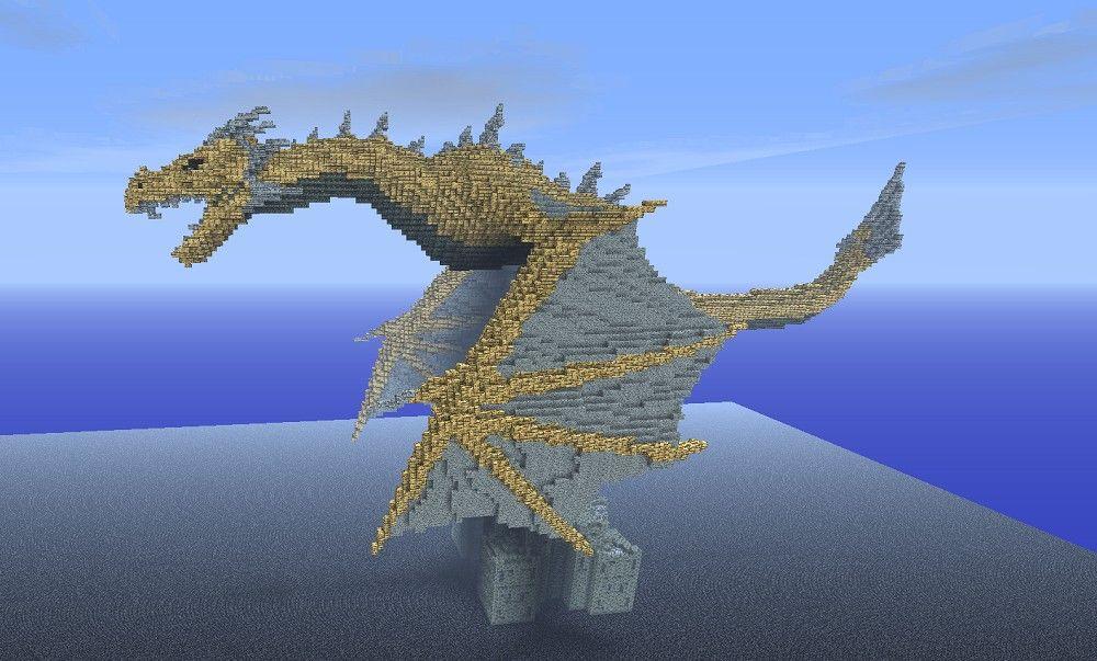 dragons minecraft | Lotaviin - Dragon from Skyrim in Minecraft ...