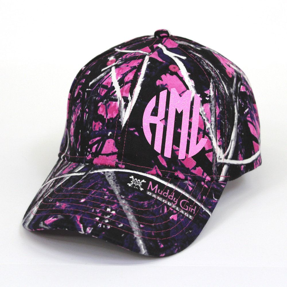 d522a46ae5c60 Check out our muddy girl pattern camo hat complete with neon pink glitter!