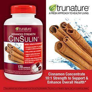 Trunature Advanced Strength Cinsulin Cinnamon, Chromium