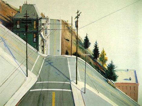 Wayne Thiebaud - 24th Street Intersection - 1977 Oil on canvas 35 5/8 x 48 in (90.5 x 121.9 cm) Private collection