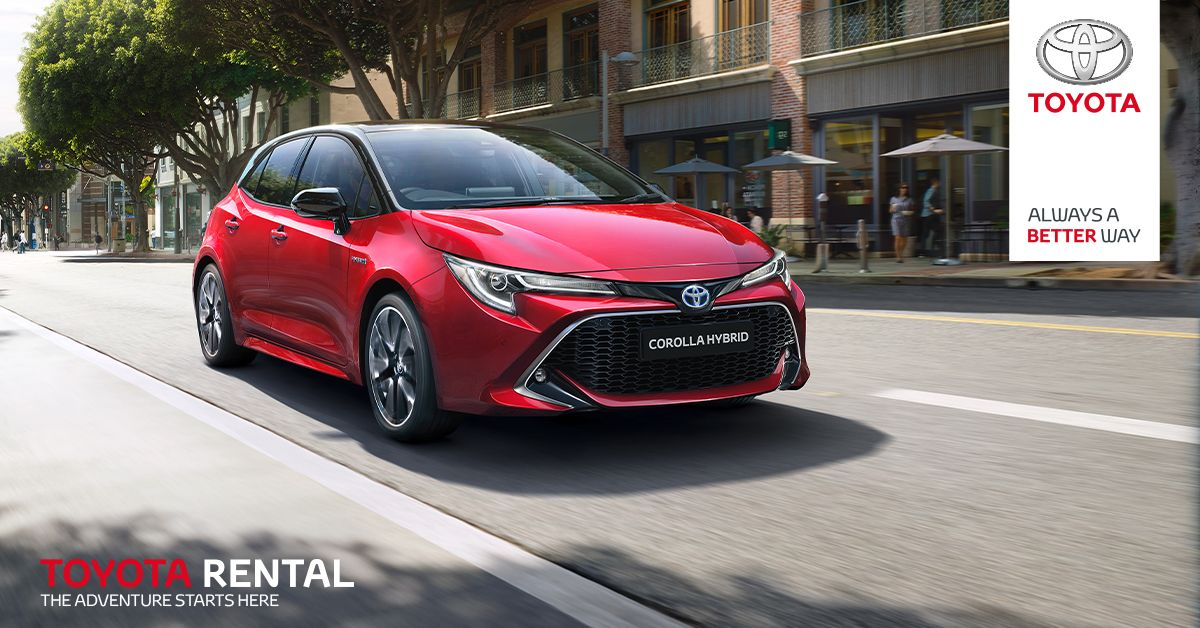 Toyota Corolla Hybrid just £23.50 per day. Whatever your