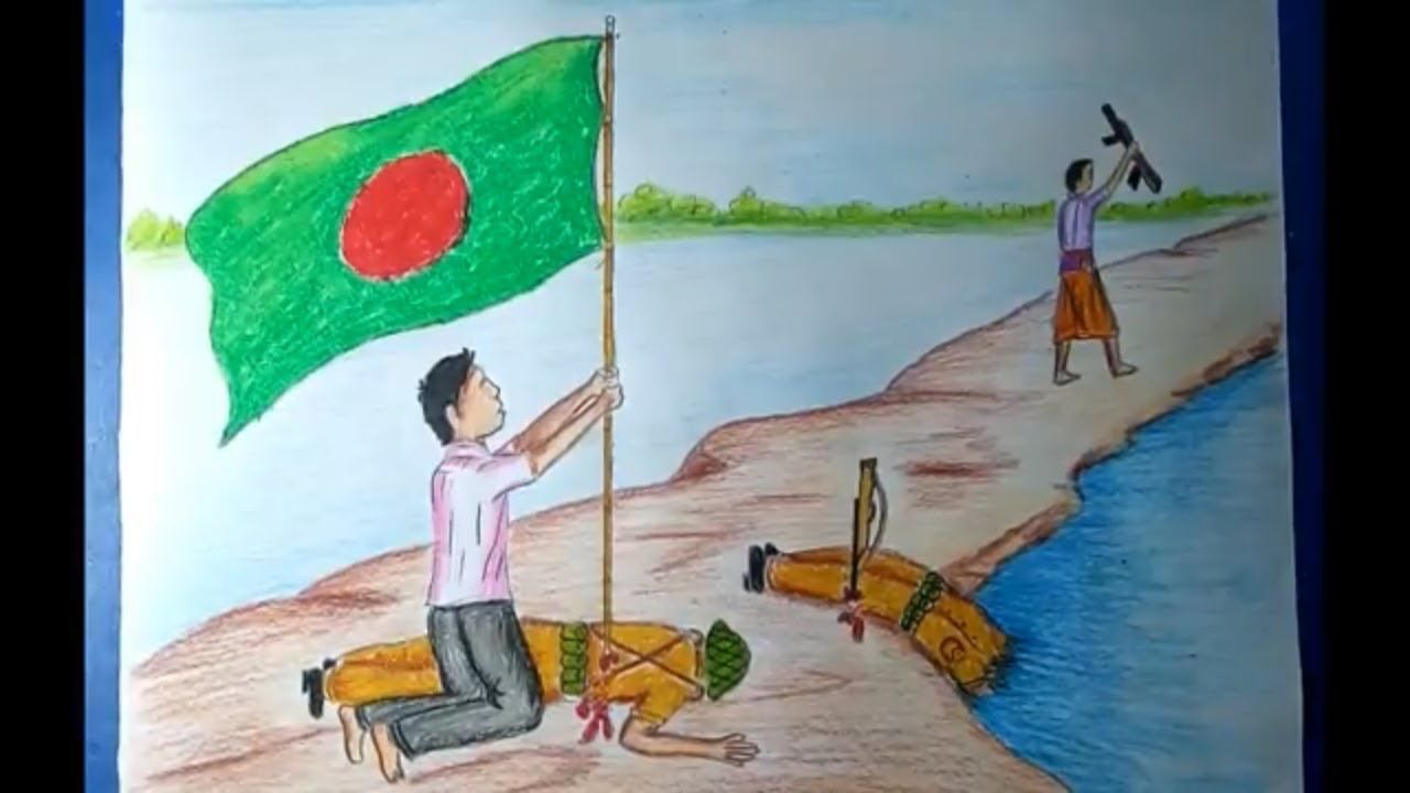 How to Draw Independence Day Picture of Bangladesh - 26