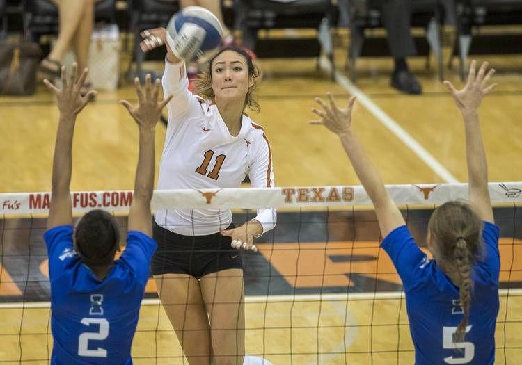 Texas Volleyball S Lexi Sun To Transfer Hookem Com Coaching Volleyball Lexi Sun Volleyball Players