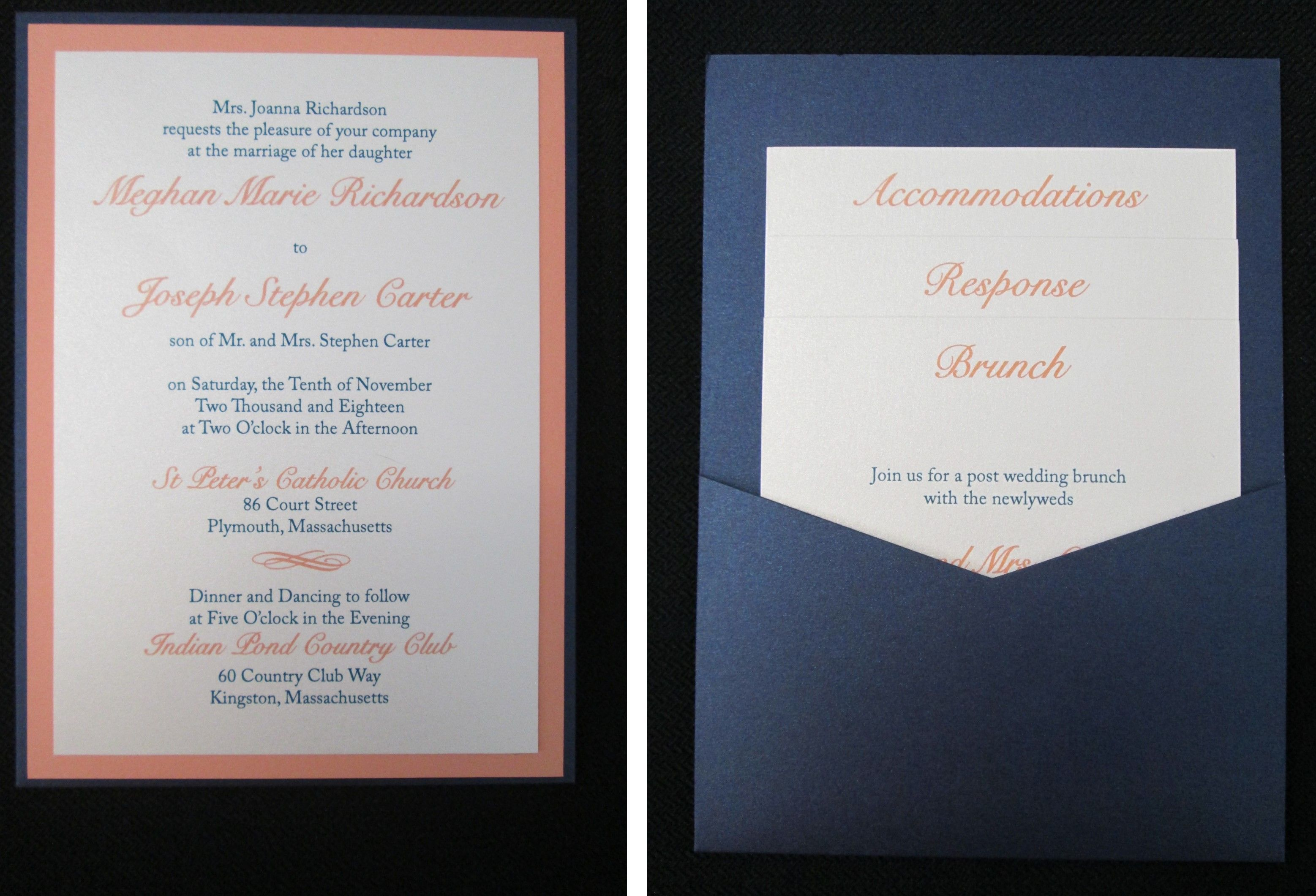Pocket Card Wedding Invitation Invitations