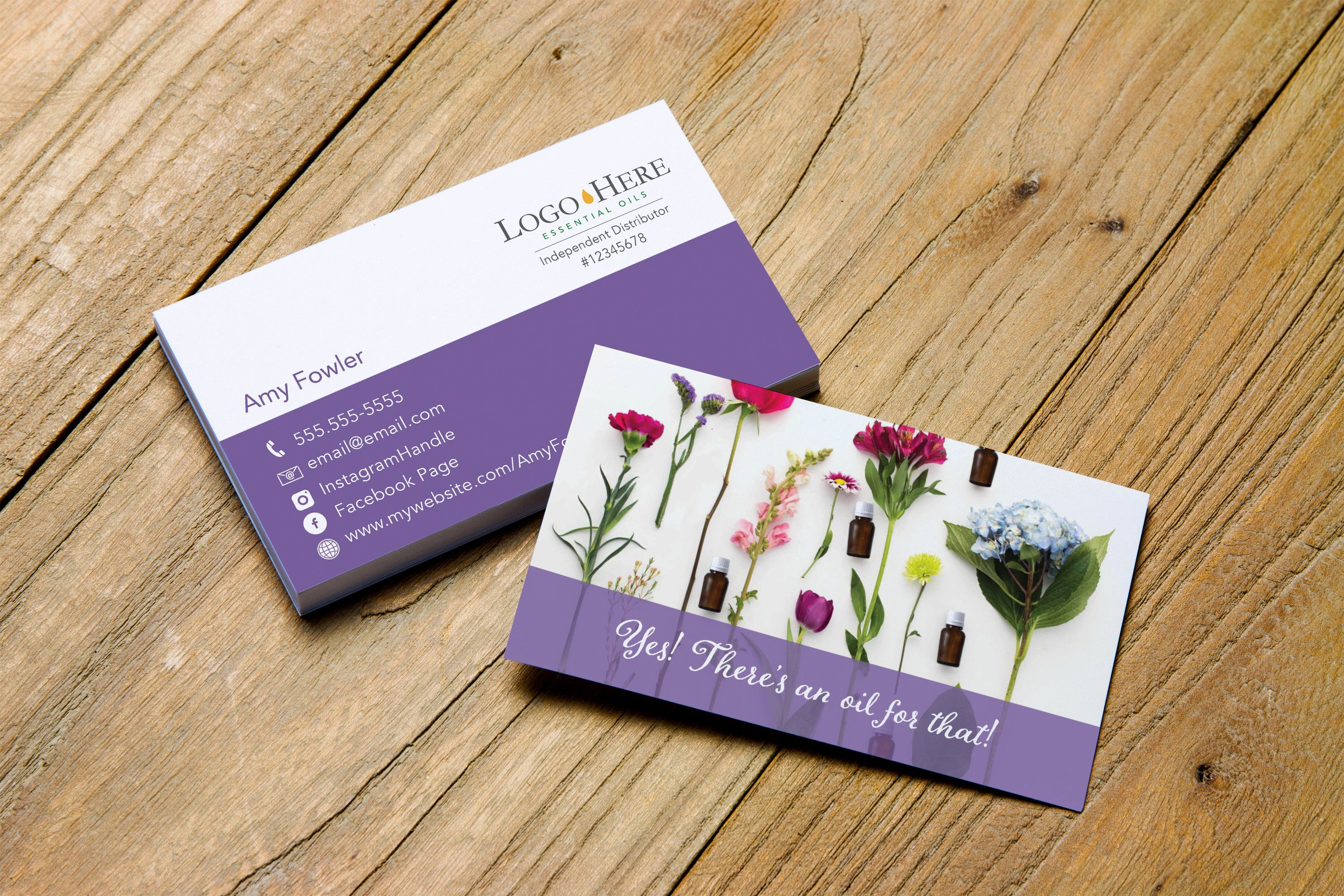 There S An Oil For That Business Card Design Personalized For