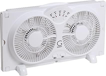 Amazon Com Genesis Twin Window Fan With 9 Inch Blades High Velocity Reversible Airflow Fan Led Indicator Lights Adj In 2020 Window Fans Best Windows Cool Technology