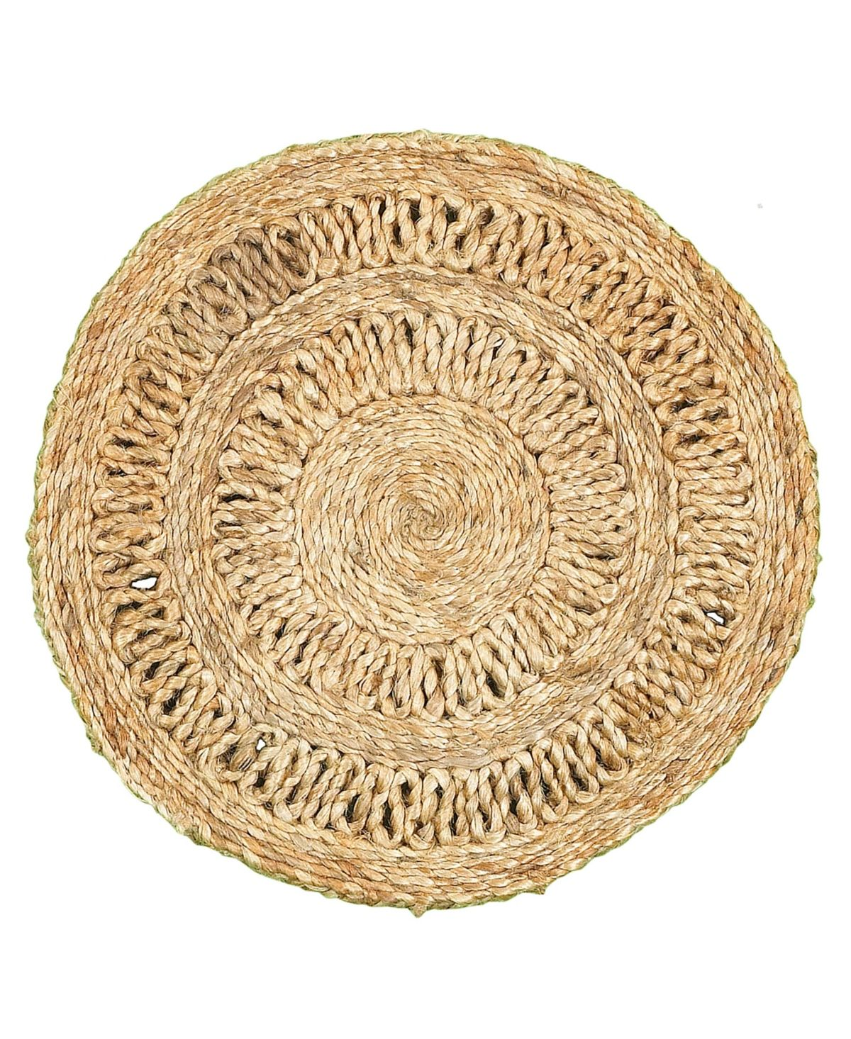 LR Home Natural Jute Round 15 inch Placemats ( Set of Two