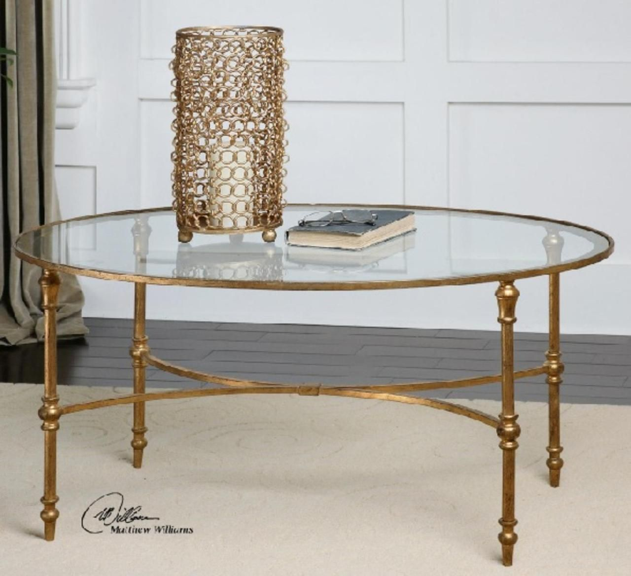 3 25 Golden Forged Iron Oval Glass Coffee Table Gold Coffee Table Oval Glass Coffee Table Glass Coffee Table [ 1168 x 1280 Pixel ]