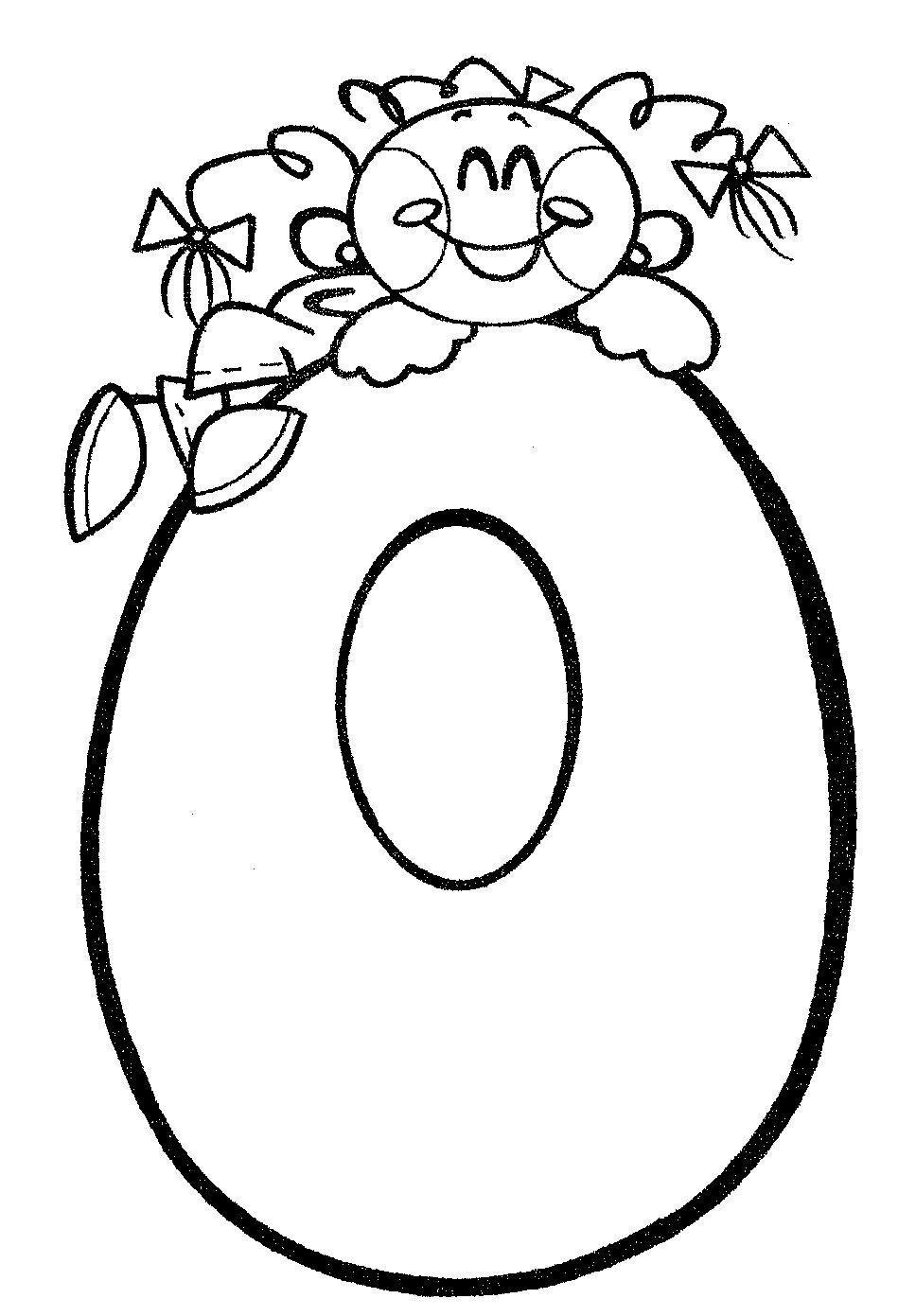 Material didáctico para niños. El número cero, 0. Para imprimir ...