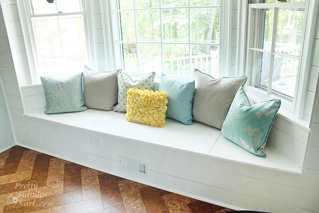 Building A Window Seat With Storage In A Bay Window With Images