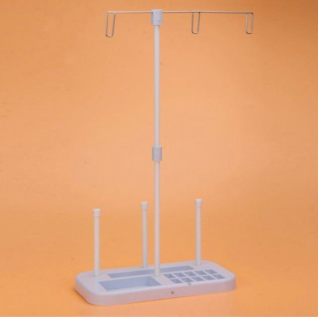 Sewing Machine Organizer 3 Spool Cones Holder Stand Rack Cells For 10 Bobbins Seam Ripper Rest Tray For Small Items Easy To Assemble Household Sewing Machine Spool Holder Sewing Machine