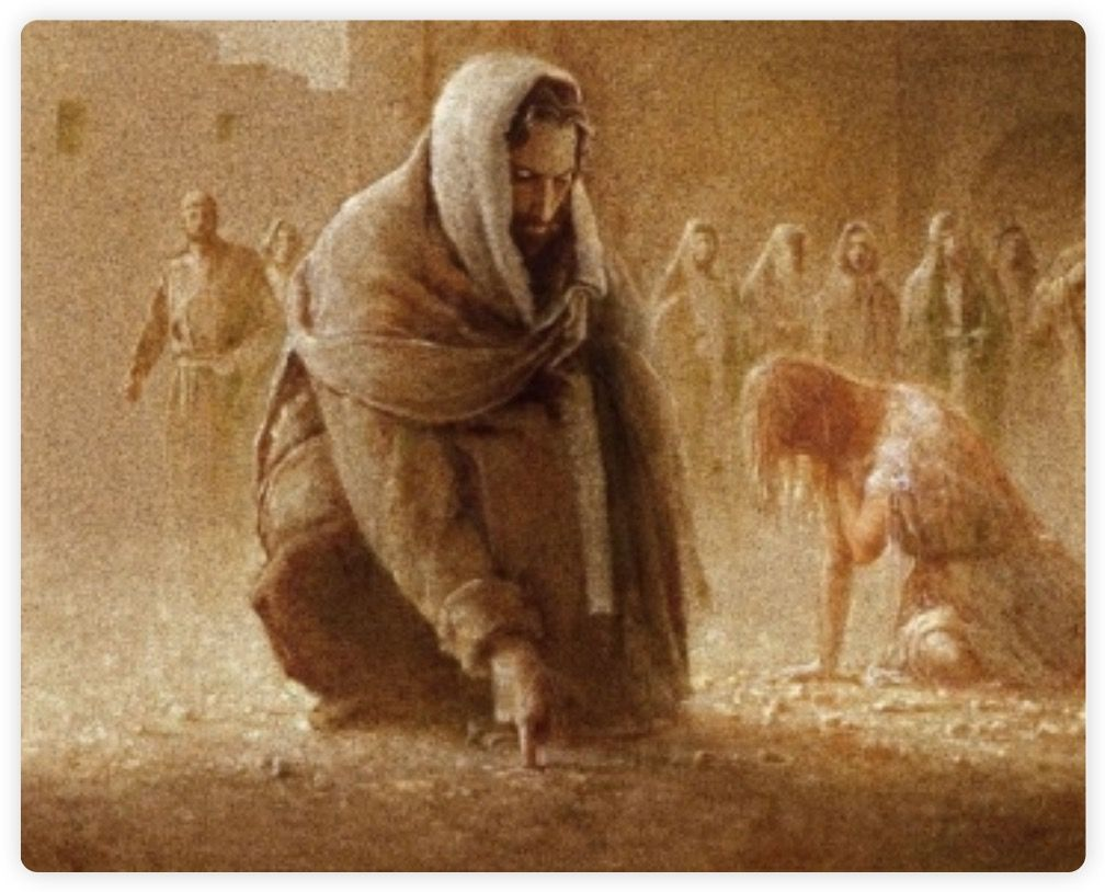 Forgiveness. What did He write in the sand? #Journaling | Jesus painting, Jesus art, Jesus christ drawing