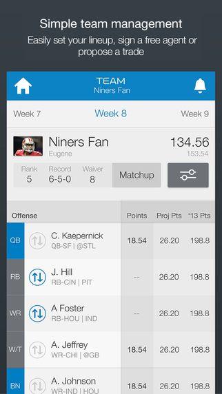 c7e60ef2760 iPhone Screenshot 4 Nfl Fantasy Football, Football Officials, App Store,  Iphone, Ui