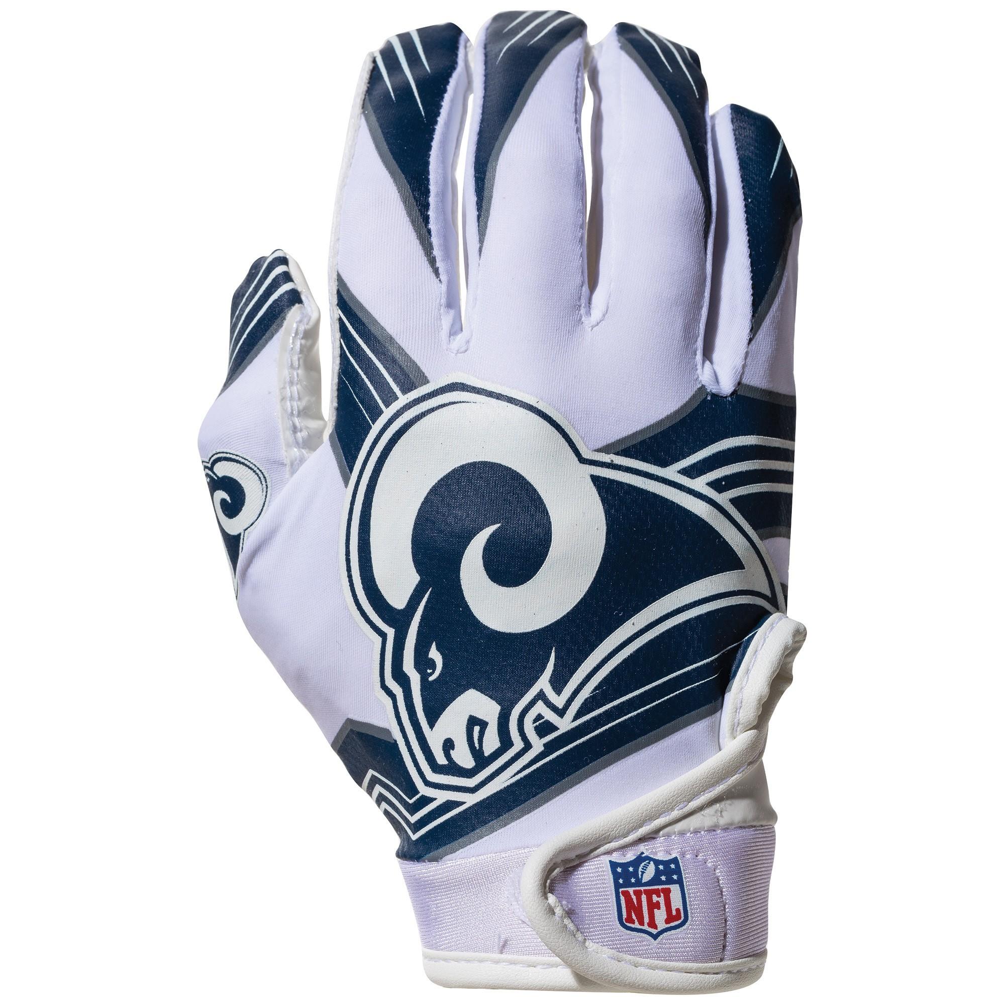 Nfl Los Angeles Rams Franklin Receiver Gloves Football Gloves Nfl Nfl Los Angeles