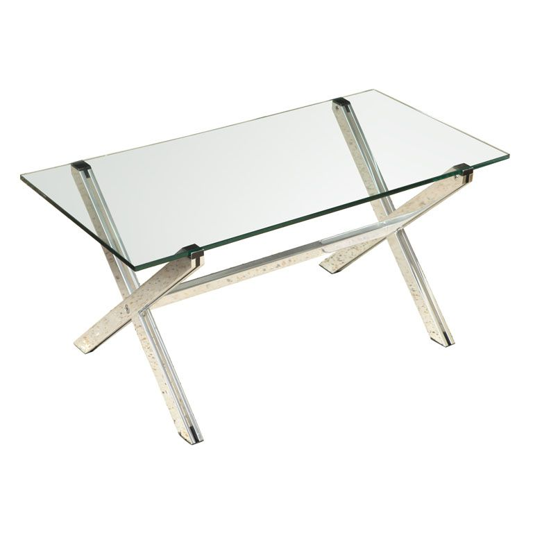 Florence Knoll Polished Aluminum Coffee Table
