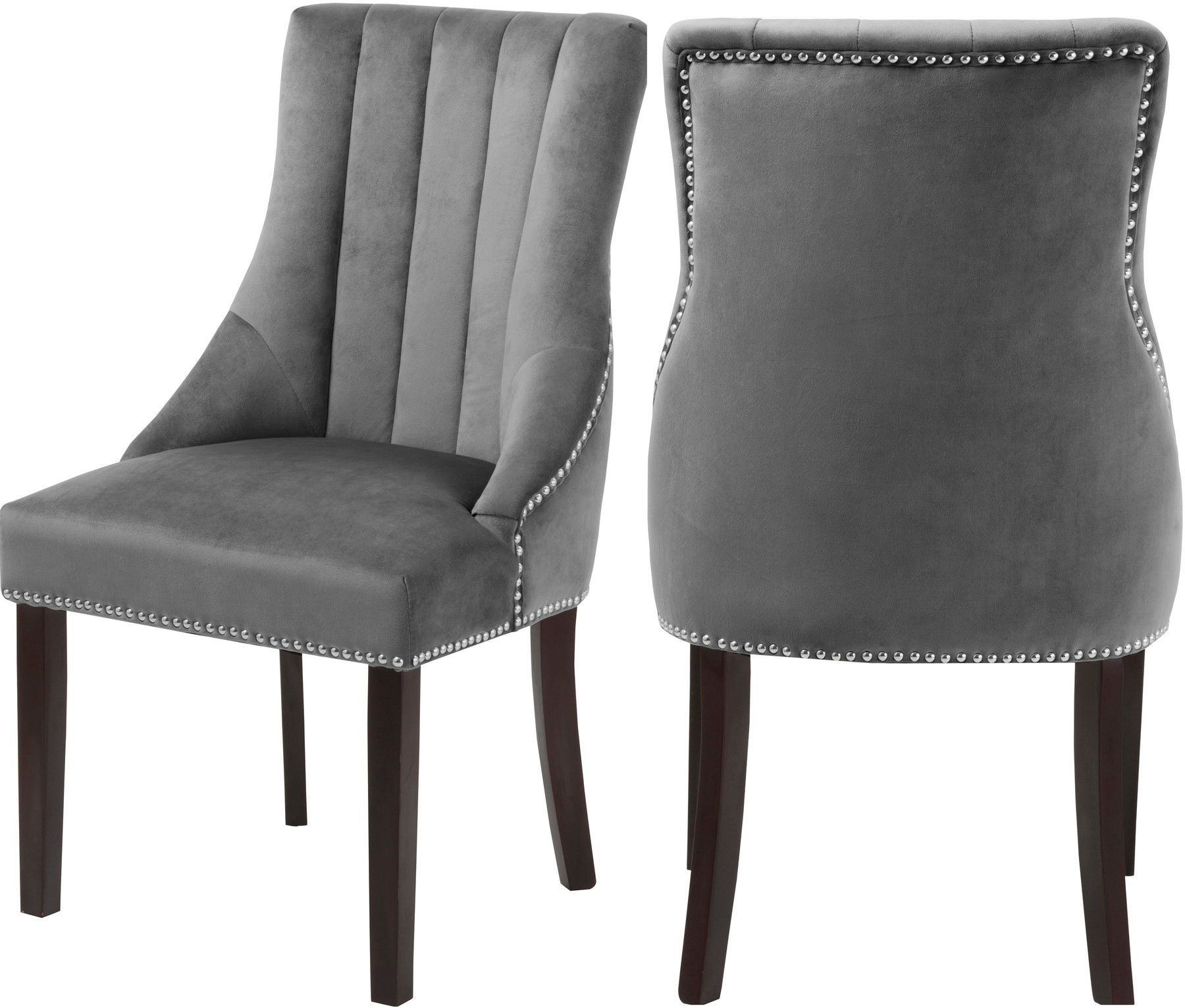 2 X Oxford Gray Dining Chair In 2020 Dining Chairs Velvet