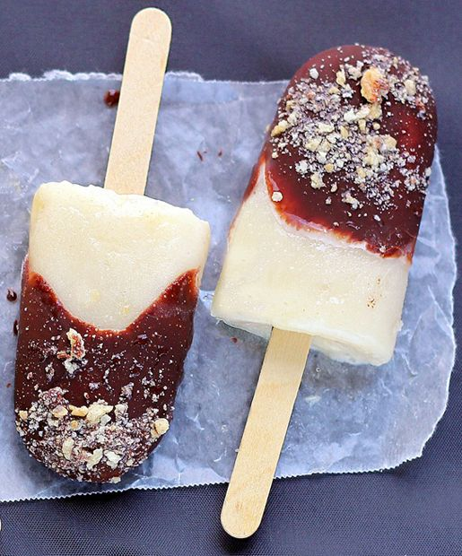 Frozen S'mores on a Stick - Chocolate-Covered Katie