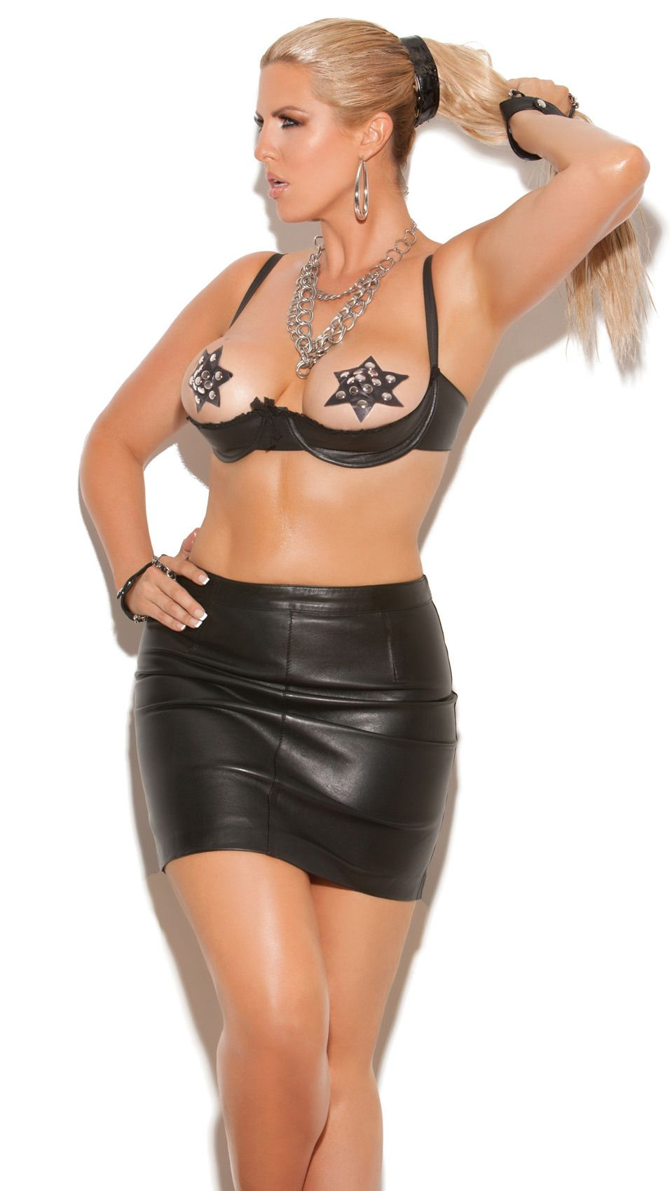 b9c3f1518fa Black Leather Open Cup Bra thesexiestlingerie.com  leatherbra ...