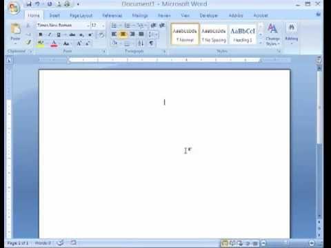 Apa Formatting Microsoft Word 2007 Mp4 Microsoft Word 2007 Word