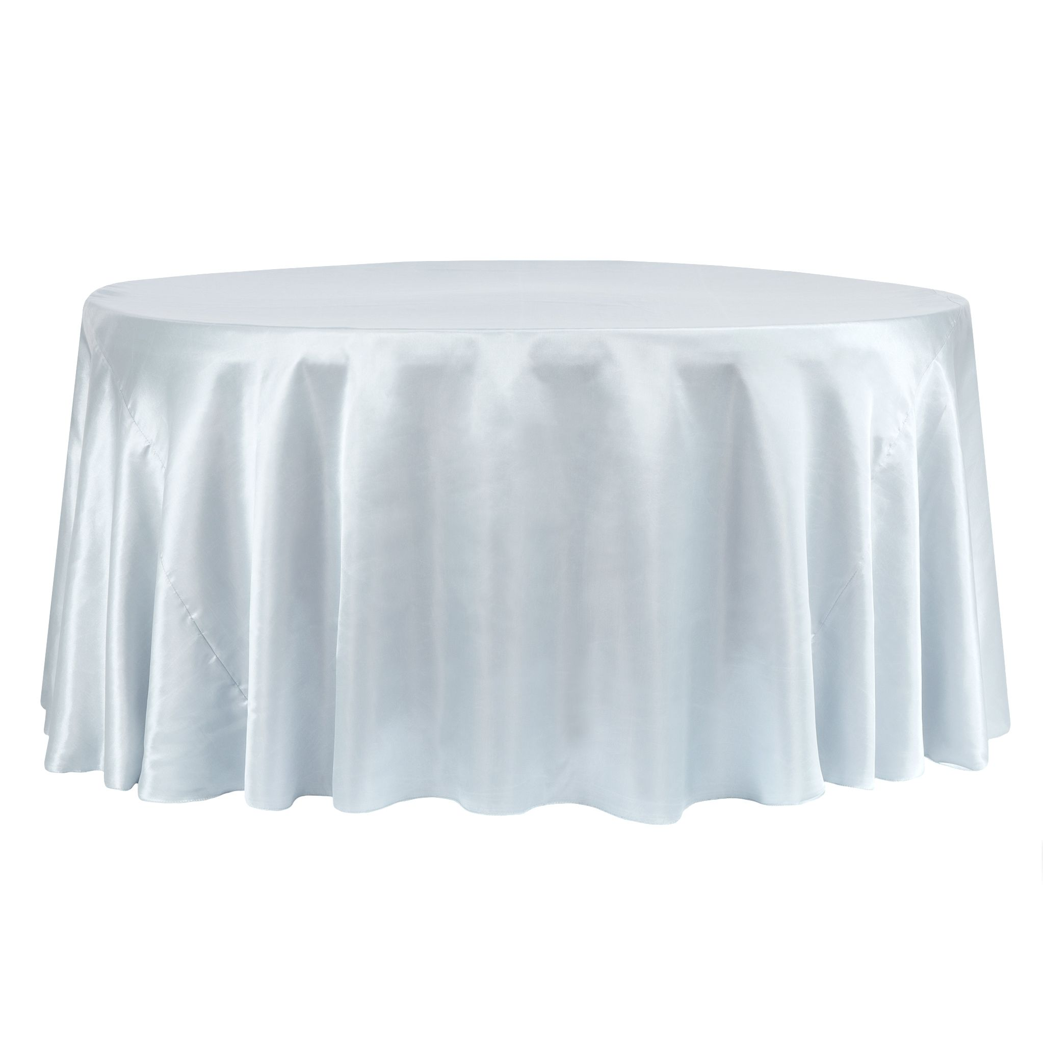 Satin 120 Round Tablecloth Dusty Blue Round Tablecloth