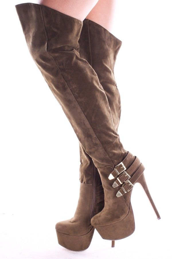 a41ccfd2af2 olive boots#over the knee boots#faux suede boots#6 inch heel boots#platform  heels#high heel boots#women's boots#sexy boots#fashion boots#cheap boots