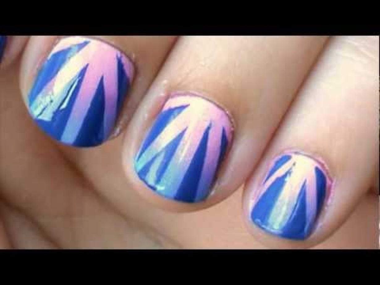 Gradient nail art tutorial using tape easy gradient