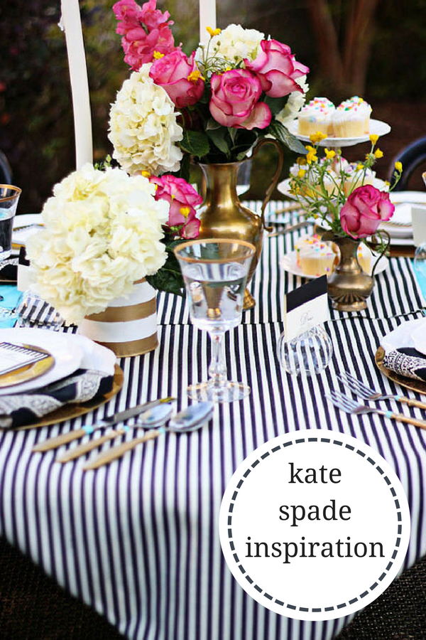 Bon Black And White Pin Stripes Table Runners And Wedding Runners, Wedding  Reception, Baby Shower Kate Spade Inspired Kate Spade Inspiration | Decor |  Shower ...
