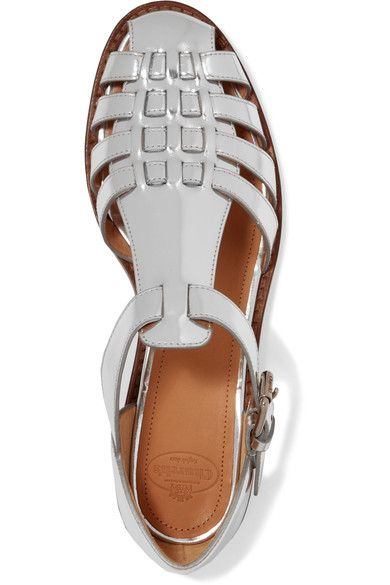 141b31fdcfb Church s - Kelsey Metallic Leather Sandals - Silver - IT35 ...