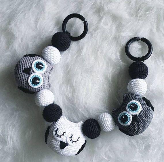 Crochet Owl Stroller Toy, Baby Mobile | Patrones | Pinterest ...