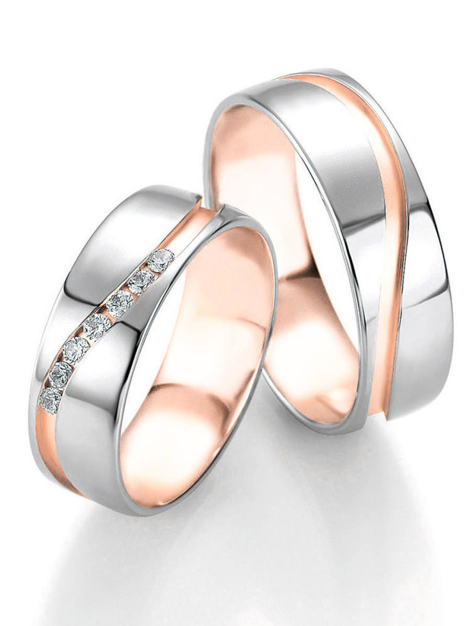 Trauringe Weissgold Rotgold Design Wedding And Weddings